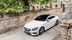 mercedes-benz, s-class, coupe, white - wallpapers, picture