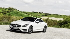 mercedes-benz, s-class, coupe, white, side view - wallpapers, picture