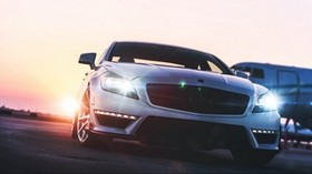mercedes-benz, front view, headlights - wallpapers, picture