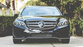 mercedes benz, front view, logo - wallpapers, picture