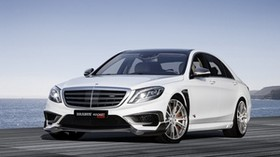 mercedes, brabus, rocket 900, w222, 2015, front view, white - wallpapers, picture