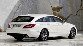 mercedes, cls, 250, cdi, white, rear view - wallpapers, picture