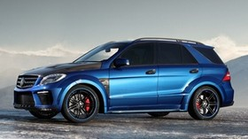mercedes, ml 63 amg, inferno, blue - wallpapers, picture