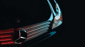 mercedes, front bumper, headlight - wallpapers, picture