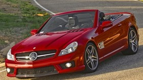 mercedes sl 63 amg, mercedes, convertible - wallpapers, picture