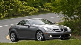 mercedes slk 350, side view, turn - wallpapers, picture