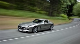 mercedes, sls 63, amg, speed, acceleration, mercedes benz, sls 63, amg - wallpapers, picture