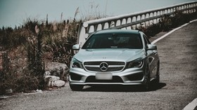 mercedes-benz cla-class, mercedes-benz, mercedes, front view, car, headlights - wallpapers, picture