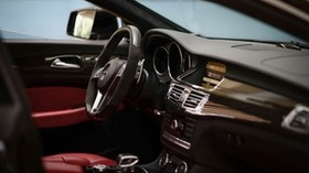 mercedes-benz cls 63 amg, mercedes, steering wheel, salon, car - wallpapers, picture