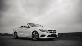 mercedes-benz e200, mercedes e-class, mercedes, white, convertible, car - wallpapers, picture