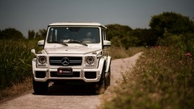 mercedes-benz g63 amg, mercedes, car, SUV, white, front view - wallpapers, picture
