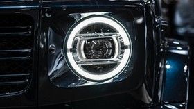 mercedes-benz g-class, mercedes-benz, mercedes, headlight - wallpapers, picture