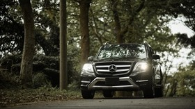 mercedes-benz glk350, mercedes-benz, mercedes, front view, headlights - wallpapers, picture