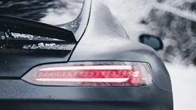 mercedes-benz, mercedes, black, headlight, rear view - wallpapers, picture