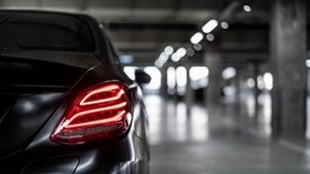 mercedes-benz, mercedes, headlight, rear view, car - wallpapers, picture