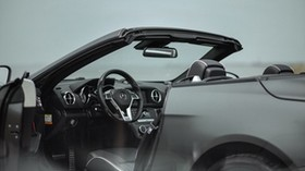 mercedes-benz sl 350, mercedes-benz, convertible, sports car, salon, interior, steering wheel, control panel - wallpapers, picture