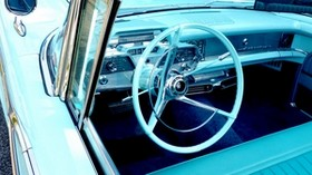 mercury, v8, auto, classic, oldtimer, retro, steering wheel - wallpapers, picture