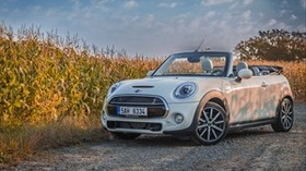 mini cooper, convertible, field - wallpapers, picture