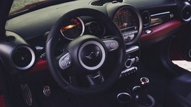 mini cooper, steering wheel, car interior - wallpapers, picture
