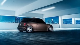 mini cooper, side view, parking - wallpapers, picture