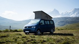 minivan, volkswagen multivan, volkswagen, bus, mountains, travel - wallpapers, picture