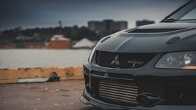 mitsubishi, headlight, front view, bumper - wallpapers, picture