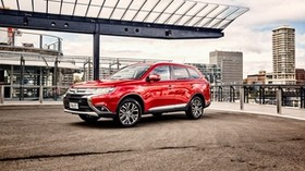 mitsubishi, outlander, au-spec, red, side view - wallpapers, picture