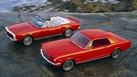 muscle cars, 1964, ford mustang, hardtop coupe, 1967, chevrolet camaro ss, convertible - wallpapers, picture