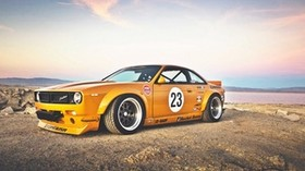 nissan 240sx, rocket bunny, side view - wallpapers, picture
