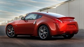 nissan, 350z, red, side view - wallpapers, picture