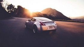 nissan, 370 z, car, movement, road - wallpapers, picture