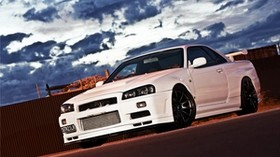 nissan, auto, machine, cars, cars, white - wallpapers, picture