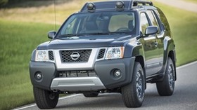 nissan, car, front view, black - wallpapers, picture