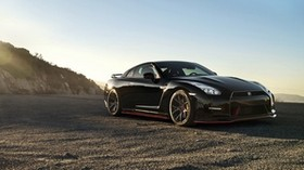 nissan, gt-r, black, side view - wallpapers, picture