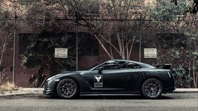 nissan, gt-r, matte, black, side view - wallpapers, picture