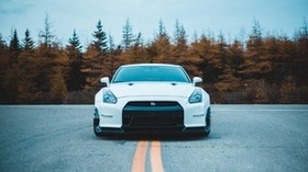 nissan gt-r, nissan, front view, sports car - wallpapers, picture