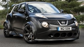 nissan, juke, r, nissan juke, nismo, black, front view, matte - wallpapers, picture