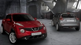 Nissan, gray, red, car - wallpapers, picture