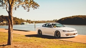 nissan silvia, s15, nissan, tuning, coupe, promenade - wallpapers, picture