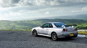 nissan, skyline, gt-r, silver, side view - wallpapers, picture