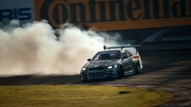 nissan, skyline, gtr, drift, drift, r34 - wallpapers, picture