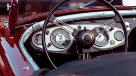 oldtimer, convertible, speedometer, steering wheel, car - wallpapers, picture