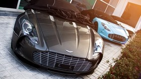 one-77, aston martin, supercar, light, top view - wallpapers, picture