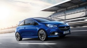 opel, corsa, blue, side view - wallpapers, picture