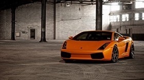 orange, stylish, auto, lamborghini - wallpapers, picture