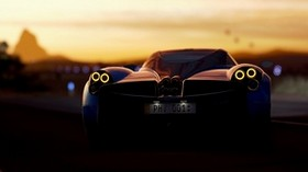 pagani huayra, pagani, sports car, rear view, racing - wallpapers, picture