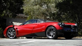 pagani, huayra, supercar, red, side view - wallpapers, picture