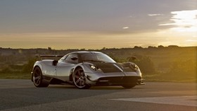 pagani, huayra, side view, road - wallpapers, picture