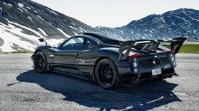 pagani, zonda, 750 lm, side view, black - wallpapers, picture