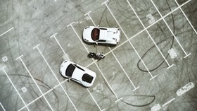 parking, cars, motorcycle, top view, lamborghini, ferrari, ducati - wallpapers, picture